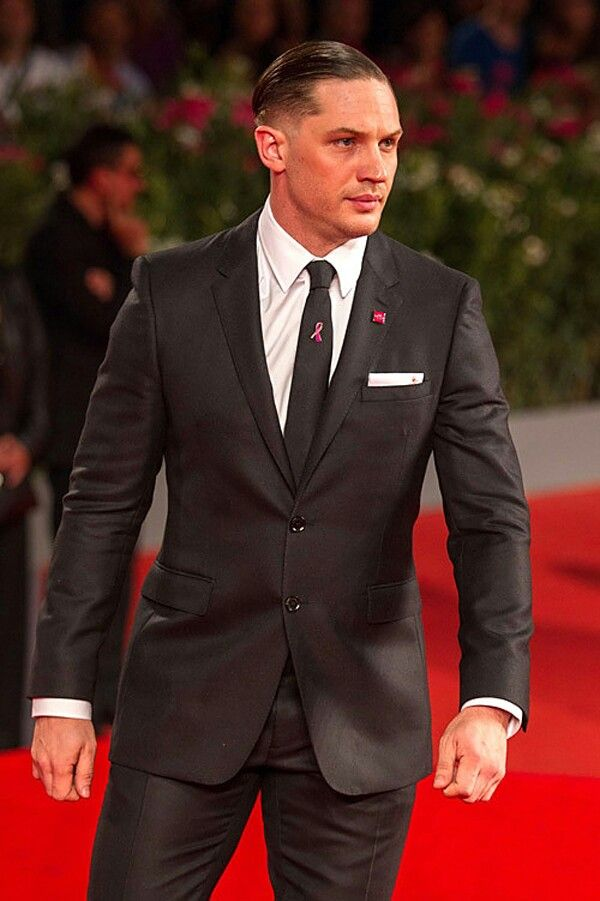 Tom Hardy, suited up.