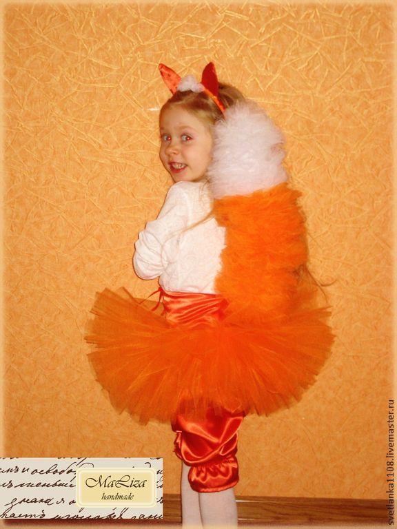 """Купить Новогодний костюм """"Лисичка"""" - рыжий, однотонный, новогодний костюм, карнавальный костюм, костюм лисички"""