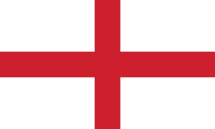 Flag of England - Bandeiras da Europa – Wikipédia, a enciclopédia livre