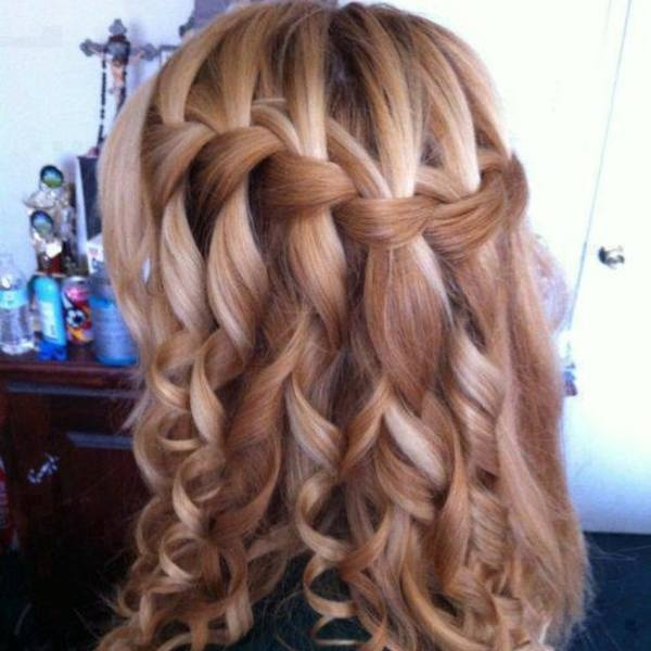 Google Image Result for http://imgc.classistatic.com/cps/blnc/120713/428r1/0214ha5_20.jpeg: Hair Ideas, Hairstyles, Wedding Hair, Waterfalls, Hair Styles, Makeup, Waterfall Braids, Beauty