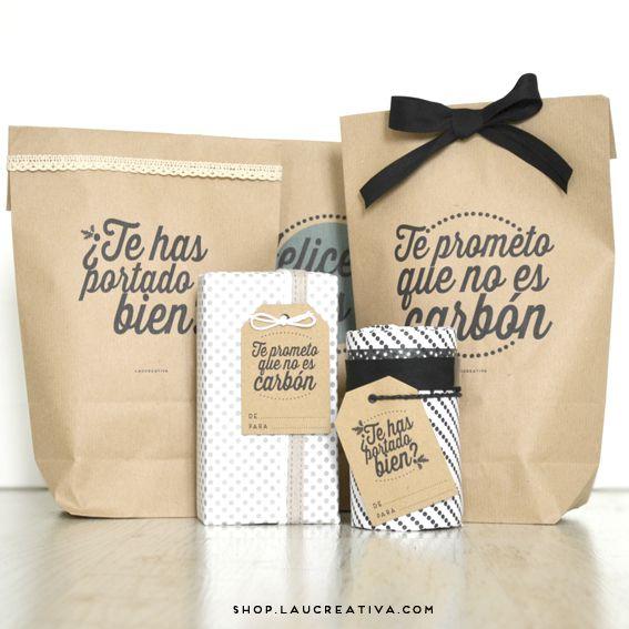 Nuestras bolsas kraft se visten de gala para recibir a - Regalo padre navidad ...