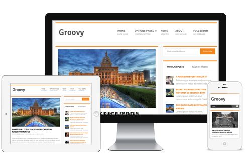 Groovy A Free Clean Elegant Responsive Magazine WordPress Theme