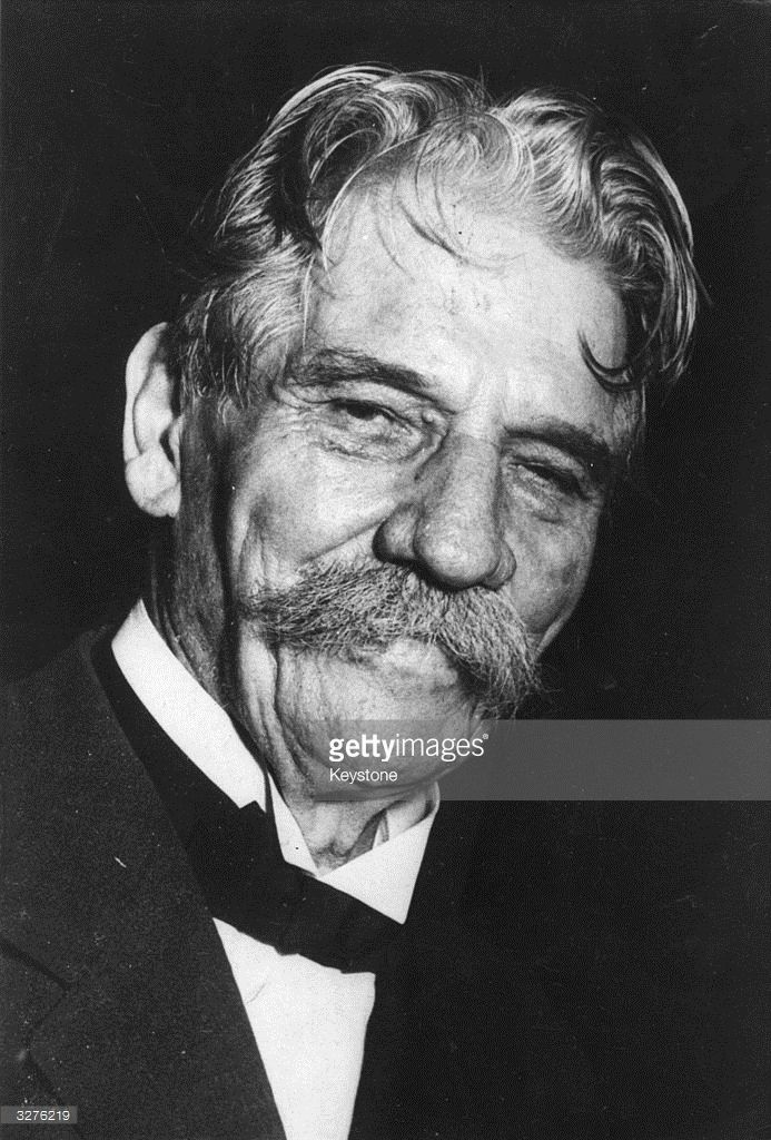 Dr Albert Schweitzer (1875 - 1965) the philosopher, missionary and theologian, who won the Nobel Peace Prize in 1952.