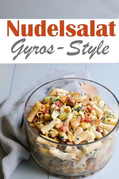 Nudelsalat. Gyros-Stil.   – Salate