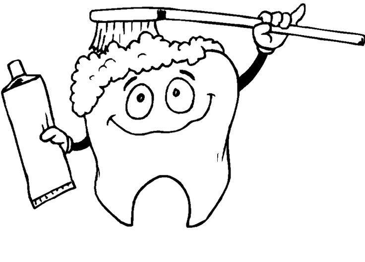 Cepillarse Los Dientes Para Colorear Dental Health Coloring Pages Free Dental