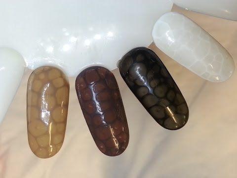 HOW TO: Snake skin nails / wężowa skórka WITH A GEL POLISH - YouTube