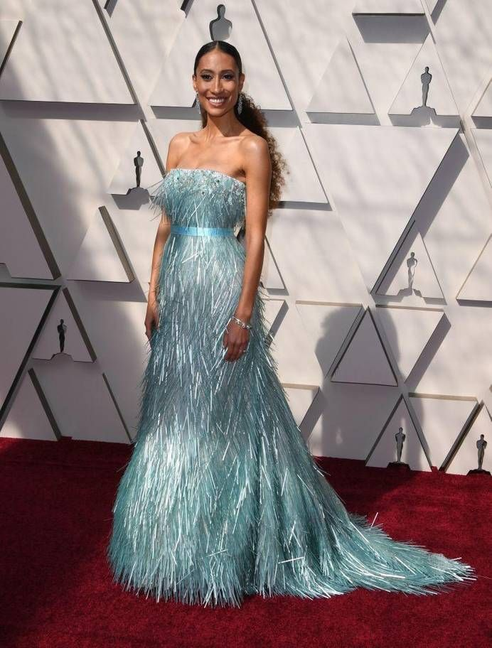 a408823bfb Billy Porter wows Oscars red carpet in Christian Siriano tuxedo gown