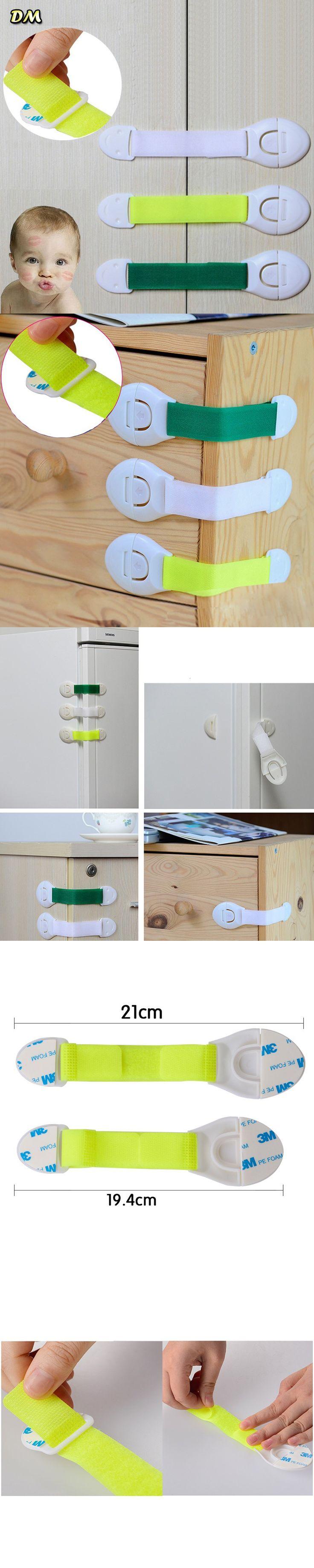 New safety Fedex/DHL, 3M Sticker Baby Safety Lock Multipurpose Cabinet Lock Children Kids Drawer Lock Refrigerator Lock 1000pcs $475