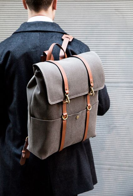 Buy a cool, stylish backpack. I've never owned a backpack - not even when I was in school. Tumblr Backpack, Men's Backpack, Fashion Bags, Fashion Accessories, Trendy Accessories, Fashion Ideas, Fashion Inspiration, Gents Fashion, Fashion Men