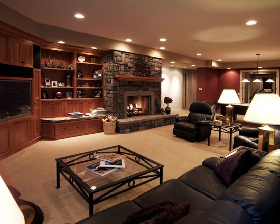 Spaces Stone Fireplace With Built Ins Design, Pictures, Remodel, Decor and Ideas - page 2