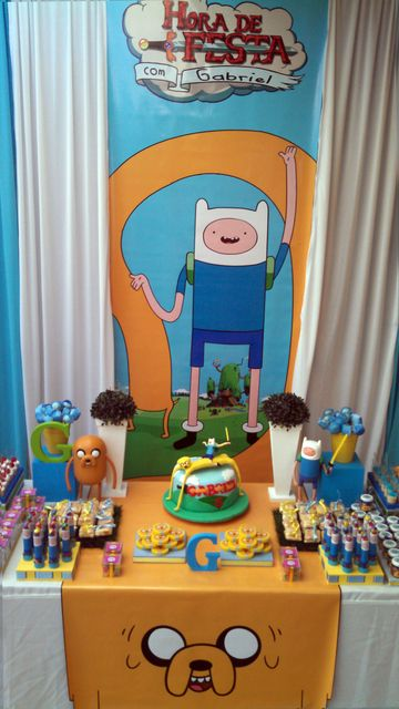 Adventure Time party!  See more party ideas at CatchMyParty.com!  #partyideas #adventuretime