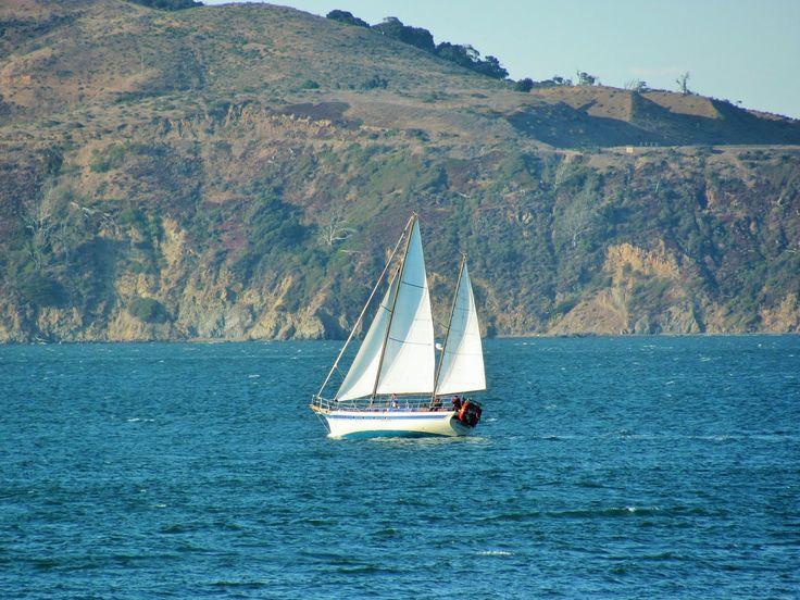 Yacht sailing in San Francsico Bay
