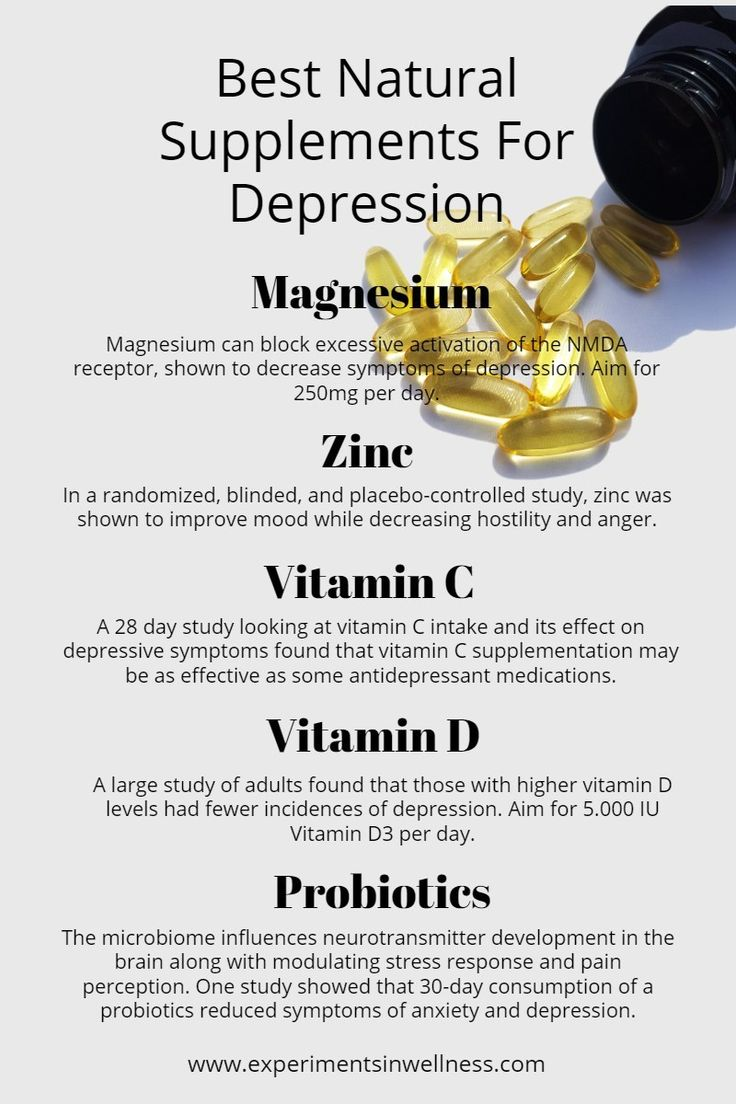 Best Supplements for Depression   www.experimentsinwellness.com