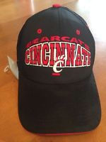 Original Cincinnati Bearcats Black Baseball Cap Hat Collegiate Licensed Product       Categorized as Used but in Very Very Good Condition     Cincinnati Bearcats Black Cap     100% Authentic     One size fits all     65% Polyester, 35% Cotton     Collegiate Licensed Product     Embroidered Hat     Color Listed As: Black