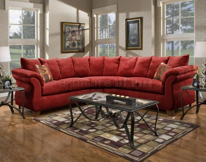 red sectional sofa 2 Roselawnlutheran