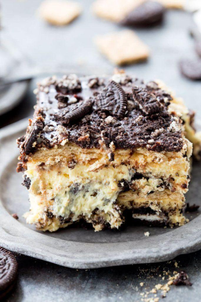 No Bake Oreo Cheesecake Ice Box Cake Easy Peasy Meals Recipe In 2020 Icebox Cake Oreo Cheesecake No Bake Oreo Cheesecake