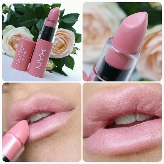 "LIP SWATCH - NYX butter lipstick ""hubba bubba"""