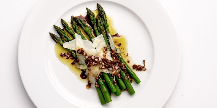 The woodyness of the asparagus is offset perfectly by balsamic and Parmesan in this asparagus recipe from Bryan Webb.