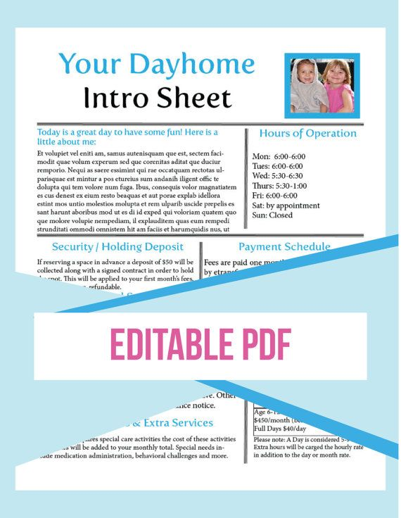 15 best Calendars, Planners  Printables images on Pinterest - daycare resume