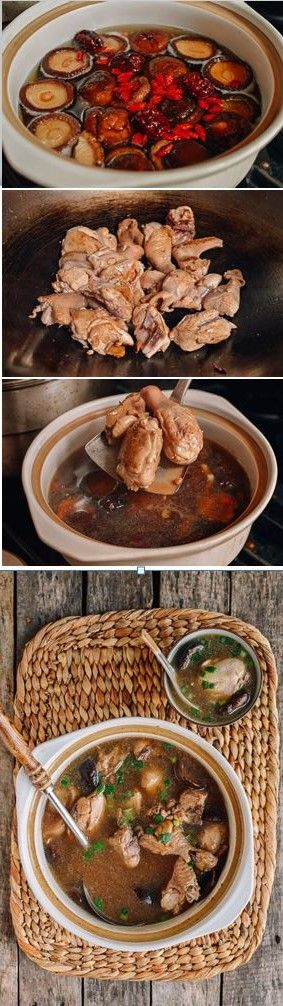 Chinese Chicken Mushroom Soup Recipe, Super Nourishing and it's great way to recharge for your greater health!
