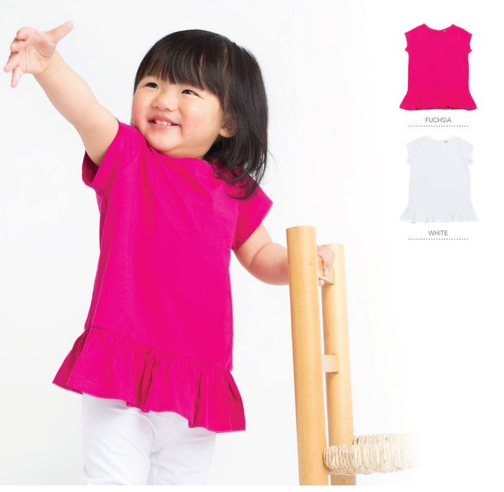 Girls frill T shirt  - can be personalised!