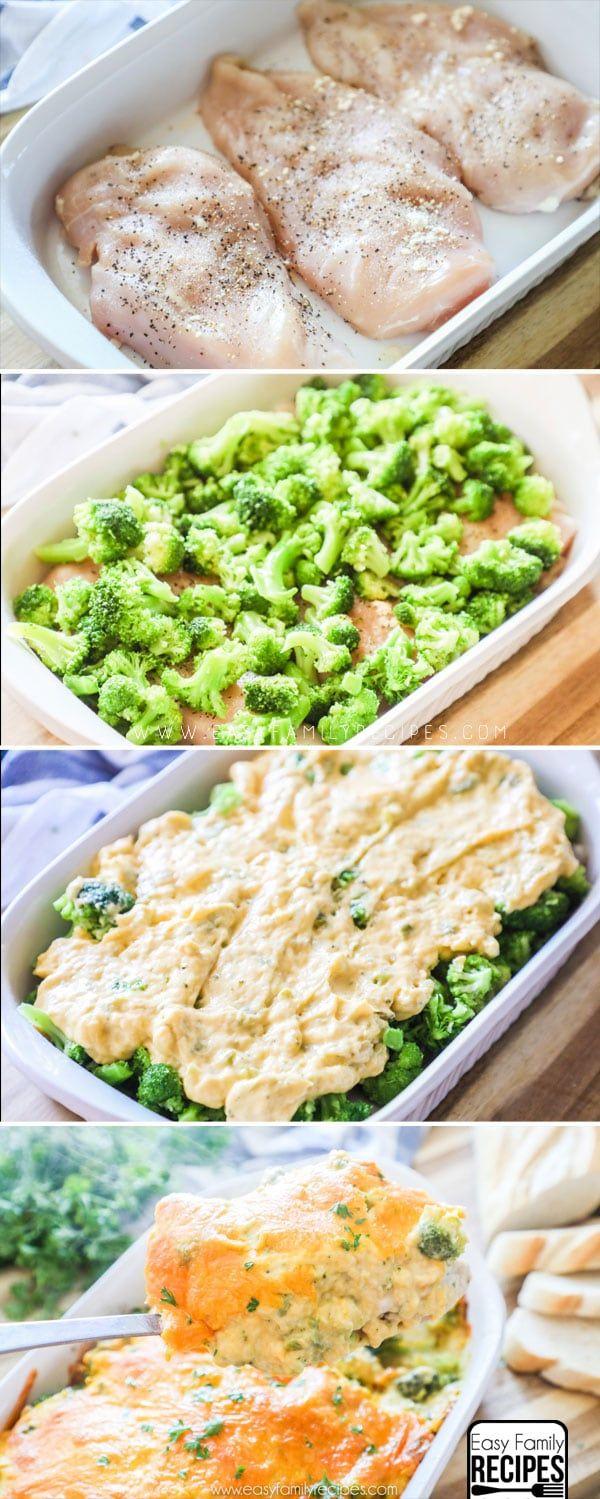 The BEST Chicken Broccoli Cheese Casserole