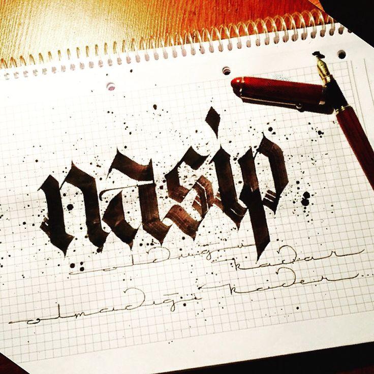 Nasip;1.birinin, önceden alnına yazılmış olduğuna inanılan pay, payına düşen şey. 2.bir insanın elde edebildiği, sahip olabildiği şey.#calligraphy #kaligrafi #calligritype #pilotparallelpen #goodtype #lettering #typography #sanat #art #graphicdesign #graffiti #handmade #logotype #gothic #artwork #artwork #illustration #instagood #typism #watercolor #calligraphymasters #brause #hatsanatı #tbt #thedesigntip #typegang #nasip #güzelyazan