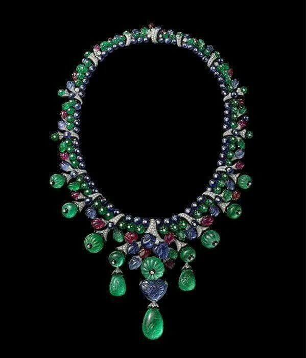 Emerald, Ruby, Sapphire, and Diamond Necklace by Cartier