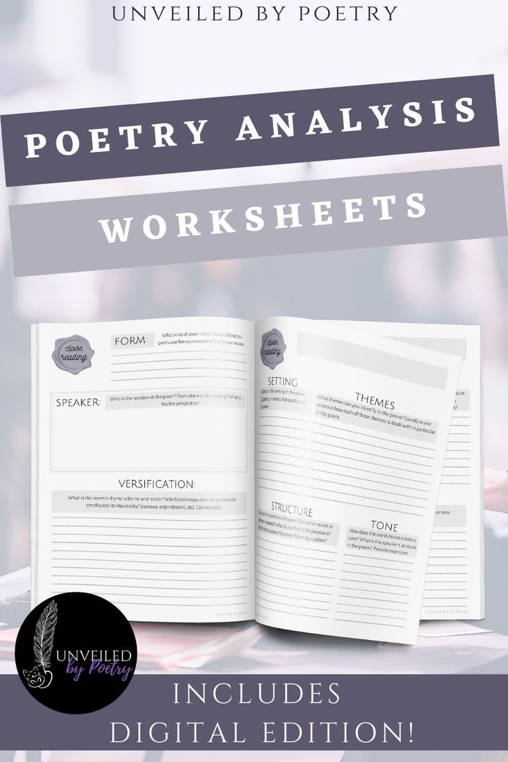 Poetry Analysis Worksheets Poetry Analysis Poetry Analysis Worksheet Poetry Worksheets [ 1104 x 736 Pixel ]