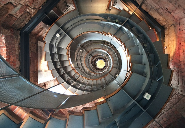 The staircase in The Lighthouse, Glasgow, taken from below by Semi-detached, via Flickr