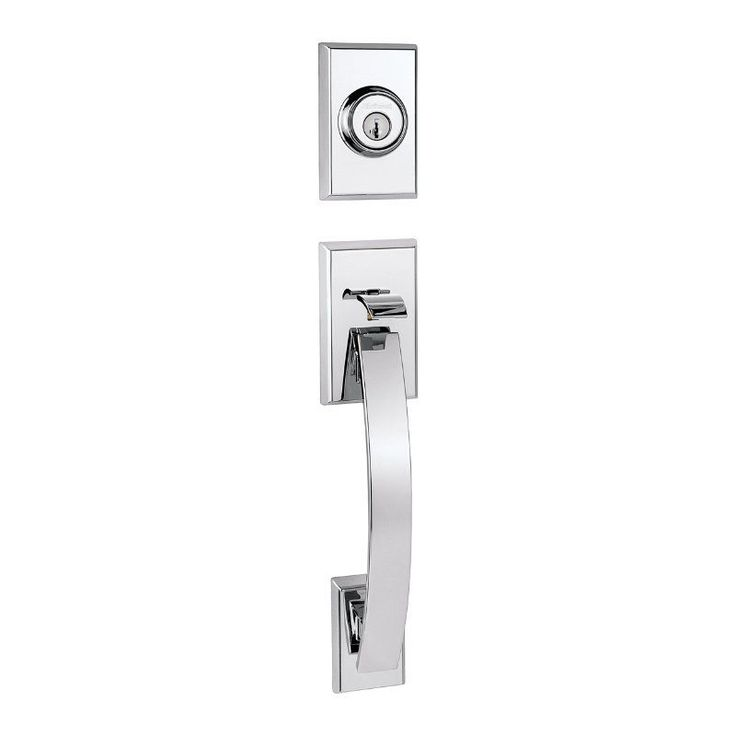 Shop For The Kwikset Satin Chrome Tavaris Single Cylinder Sectional  Contemporary Handleset With SmartKey, Exterior Only And Save.