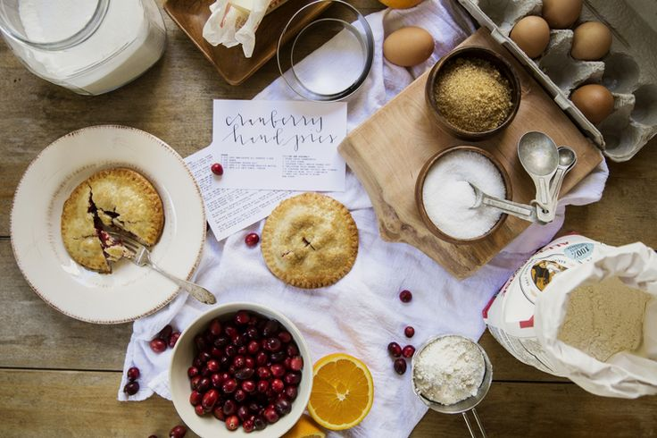 thanksgiving cranberry hand pies