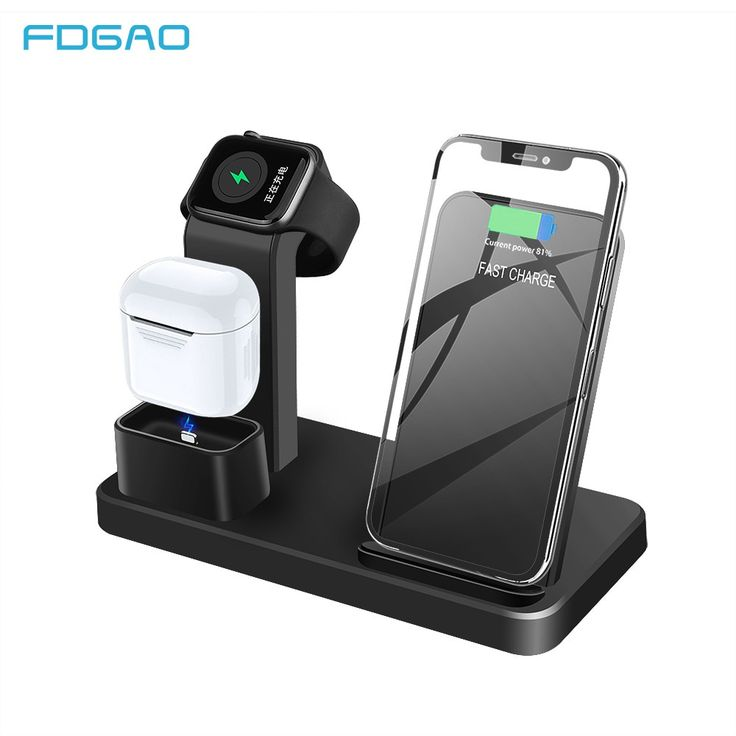 Fdgao 3 in 1 10w qi wireless charger station for airpods