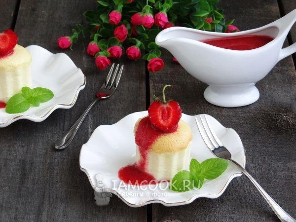 Порционный ванильный чизкейк