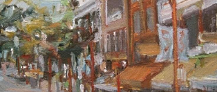 Oil painting of East Pender Street by artist Leanne Christie.