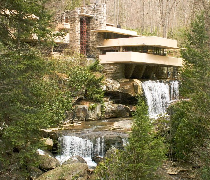 Wonderful Fallingwater Or Kaufmann Residence Is A House Designed By Architect Frank  Lloyd Wright In 1935 In Rural Southwestern Pennsylvania, 43 Miles Southeast  Of ... Part 18