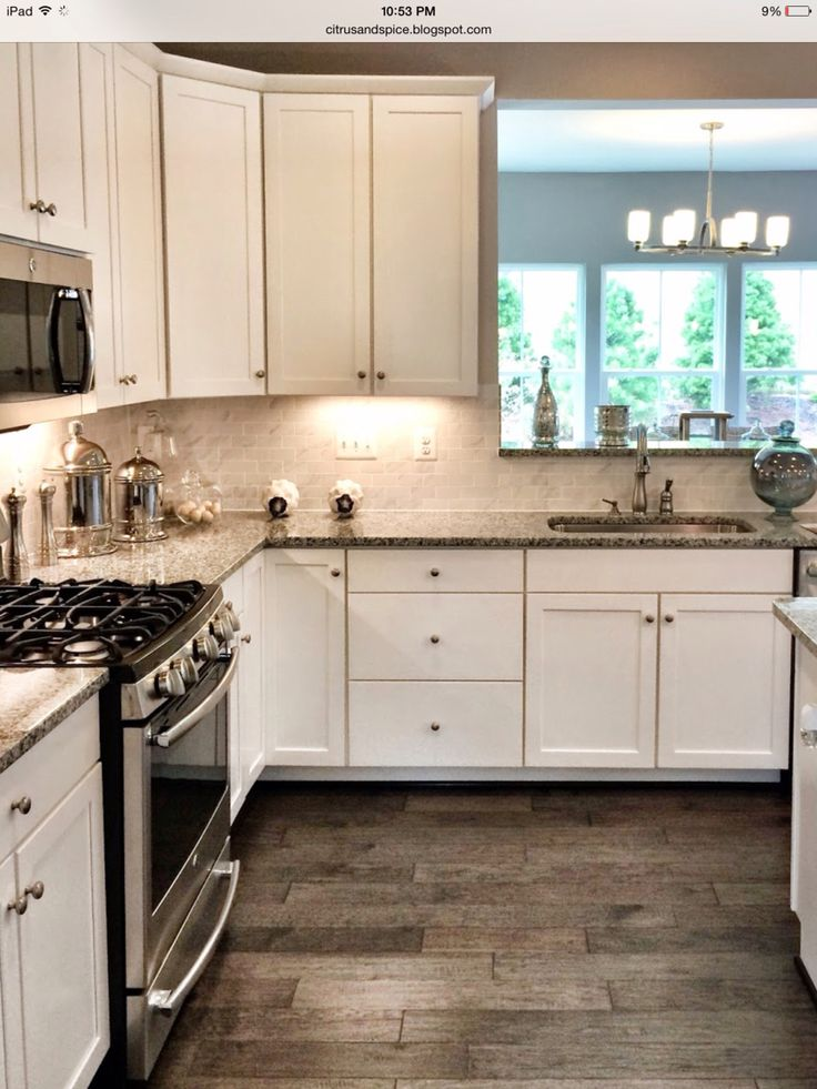 Azul Plantino Granite And White Cabinets Our New Home