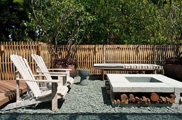 I like the bent bamboo!  Unoffending Fencing: Winning Both Privacy and Peers Over with Beautiful, Outdoor Fencing