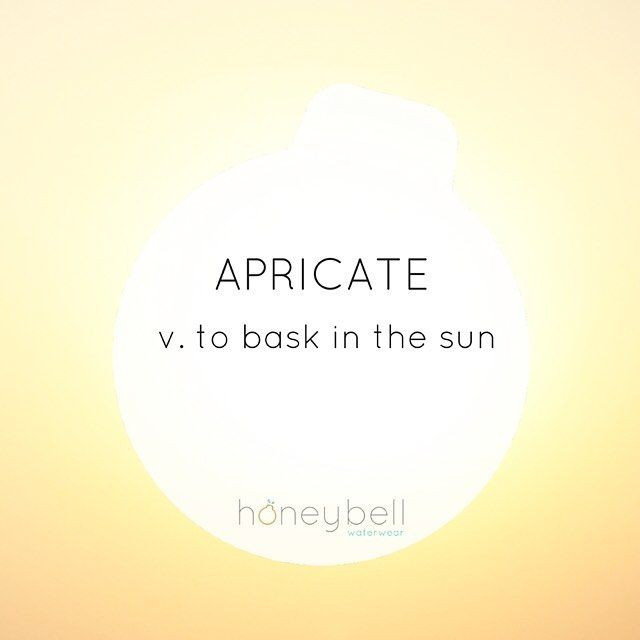 Do not apricate....unless you are a reptile. I recommend limiting the basking and if you have to do it, seek shade, cover up, and wear sunscreen.  Remember, 90% of visible aging coming from sun exposure, not the number of candles on your next birthday cake.