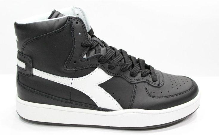DIADORA MI BASKET Scarpe Shoes Sneakers Alte Unisex Black White 41