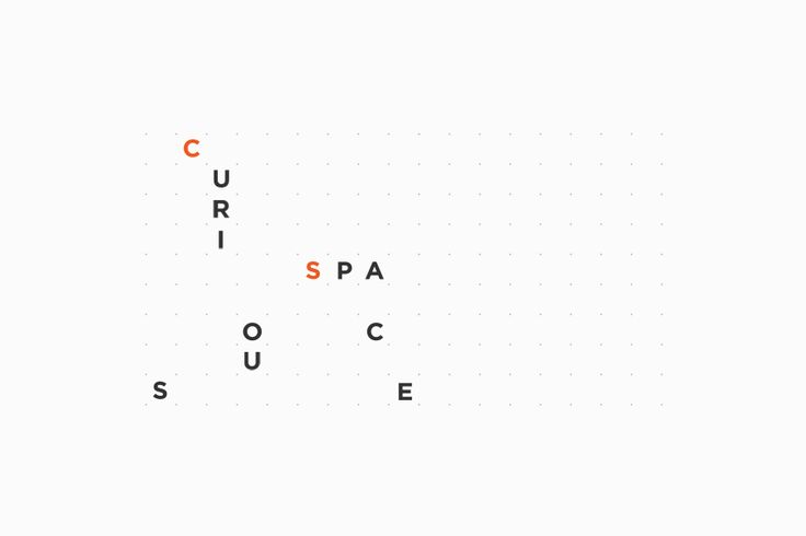 Animated gif logo for Curious Space designed by Mash Creative and May Ninth