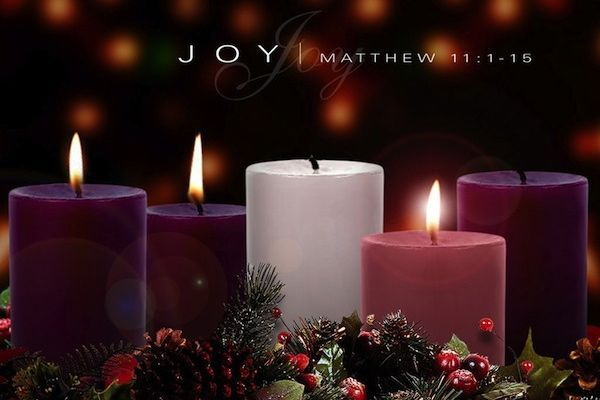 """Today in Reflections For Living: ADVENT - Week 3. We light the candle of JOY! """"ADVENT prepares us for Christmas: Prepares our eyes to see the star. Prepares our ears to listen to the angels singing. Prepares our feet to run to the manger, as did the shepherds. Prepares our knees to kneel before Him, as did the wise men. Prepares our hearts to worship Jesus."""" http://reflectionsforliving.com/quote_for_life/1215/advent-third-sunday-and-third-week-joy/ (December 13, 2015)"""