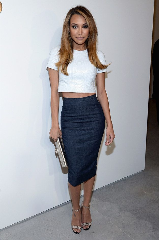 Naya Rivera put her midriff on blast at Michael Kors' NYFW show. | 35 Times The Midriff Was The MVP Of 2014