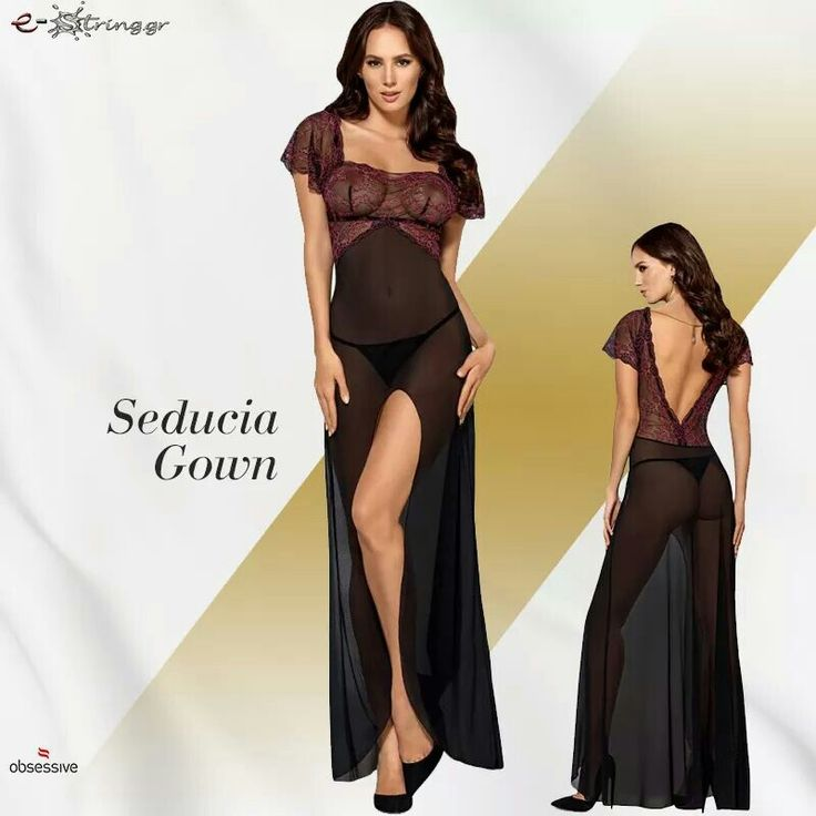 Obsessive Sedusia Gown + Thong ➜ μόνο 52€ ! Αγόρασε τo online εδώ ➡ http://bit.ly/OB4503 ! ☎ Tηλ. Παραγγελίες: 215-5517077 & 6980-767643 !  Ή στείλε μας inbox μήνυμα ! #obsessive #sedusia #gown #babydoll #casmir #linda #passion #yolanda #body #black #body #plus #size #babydoll #anais #anemos #obsessive #teddy #oradea #pink #lets #duck #charm #black #babydoll #casmir #astra #black #pink #lace #passion #nina #body #teddy #lingerie #black #string #thong #estring #sexy #lingerie #chemise #thong