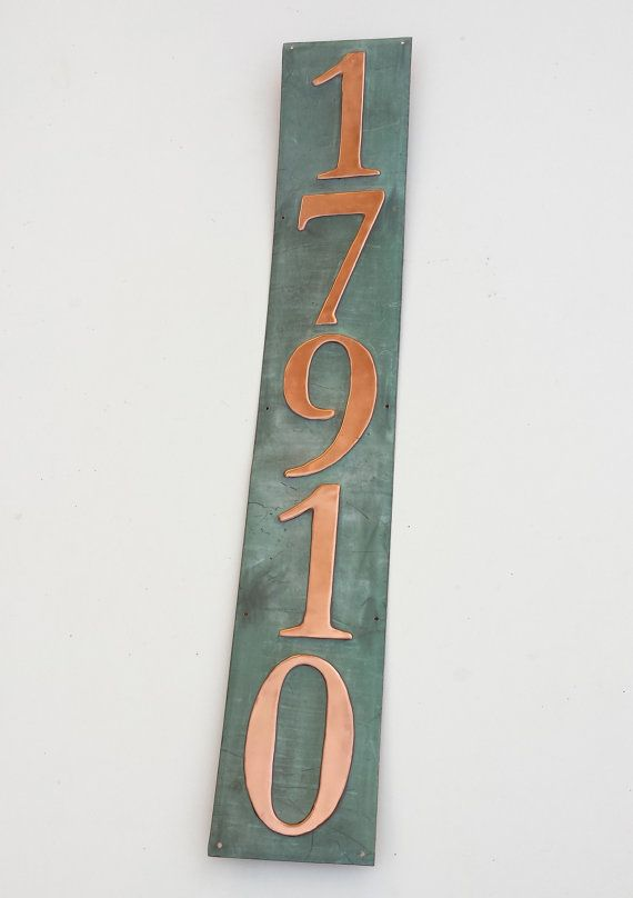 Traditional House numbers 5 x 3 or 4 in  by DavidMeddingsDeSign