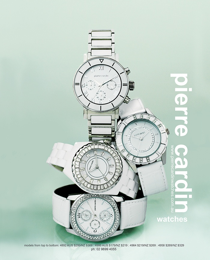 Add distinction to your look with a white watch