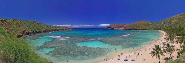 Hanauma Bay, Honolulu, Hawaii (Oahu) Offers free use of its specially equipped beach wheelchairs for users with special needs. Also many Oahu vacation rentals that are easily accessible and close to the beaches.