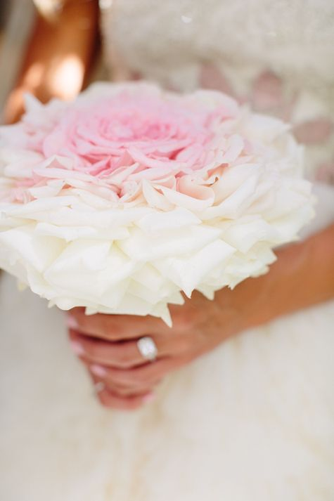 Lovely pink and white ombre bouquet.