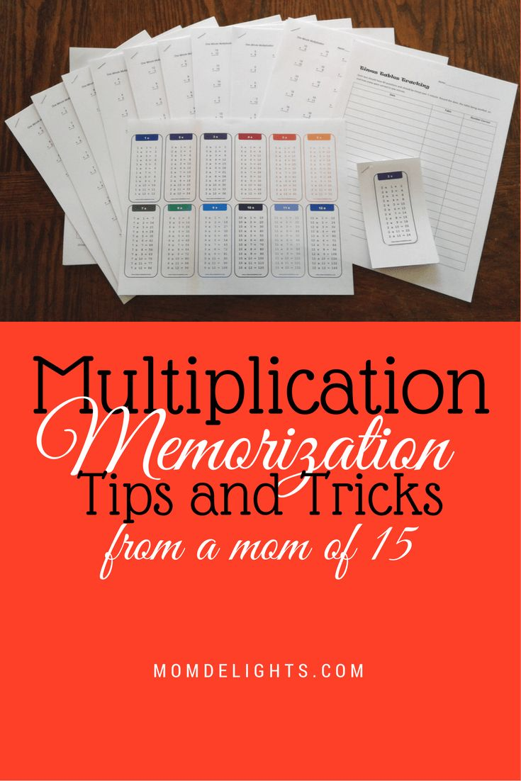 Tips and Tricks for Multiplication Memorization - Mom Delights