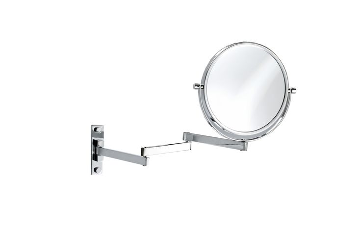 Walther Wall Mounted Cosmetic Makeup Magnifying Swivel & Extendable Mirror. Chrome